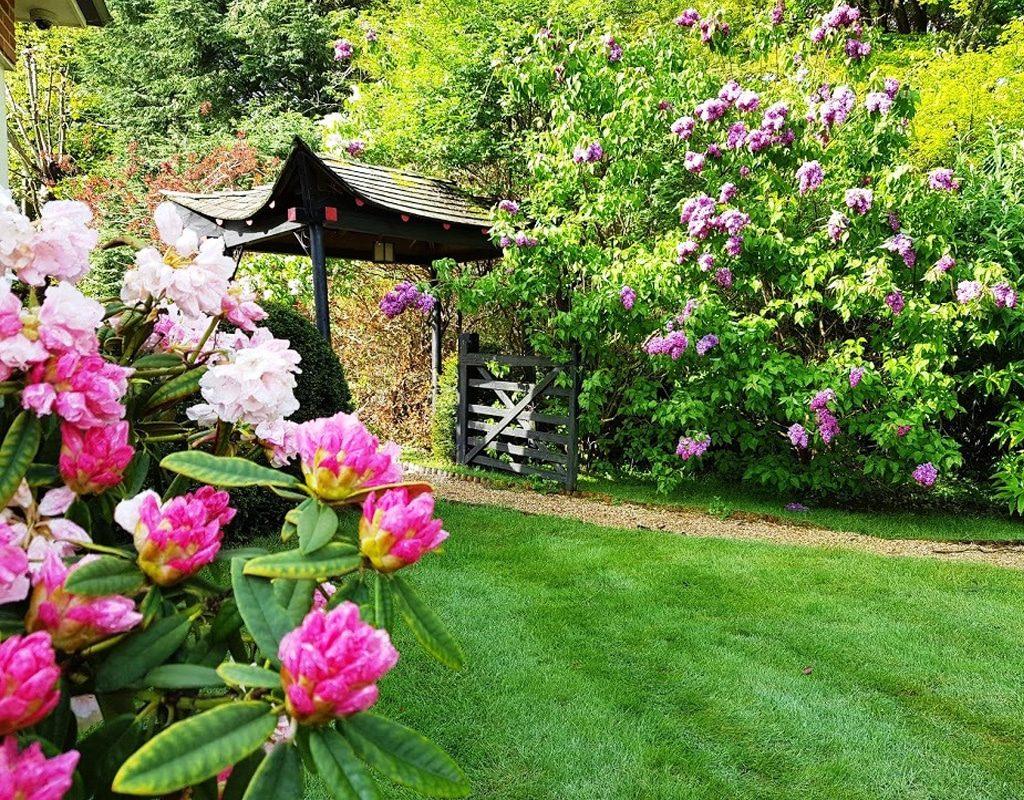 High Clandon - entrance to Japanese garden